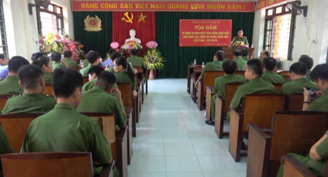 Phòng Cảnh sát hình sự Công an tỉnh: Kỷ niệm 20 năm đón nhận danh hiệu Anh hùng LLVTND trong thời kỳ đổi mới