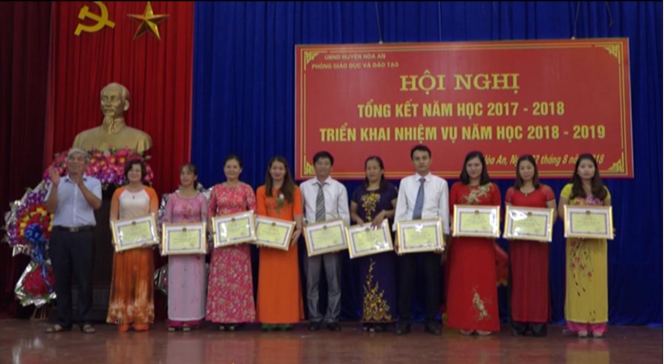 Hòa An: Triển khai nhiệm vụ năm học 2018 - 2019