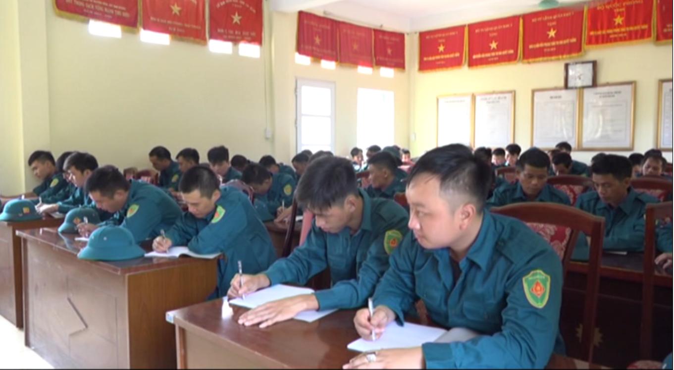 Hòa An: Khai mạc huấn luyện trung đội súng máy phòng không