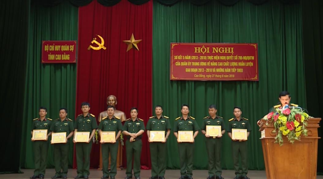 Bộ CHQS tỉnh: Sơ kết 5 năm  thực hiện Nghị quyết 765-NQ/QUTW về nâng cao chất lượng huấn luyện giai đoạn 2013 - 2020 và những năm tiếp theo
