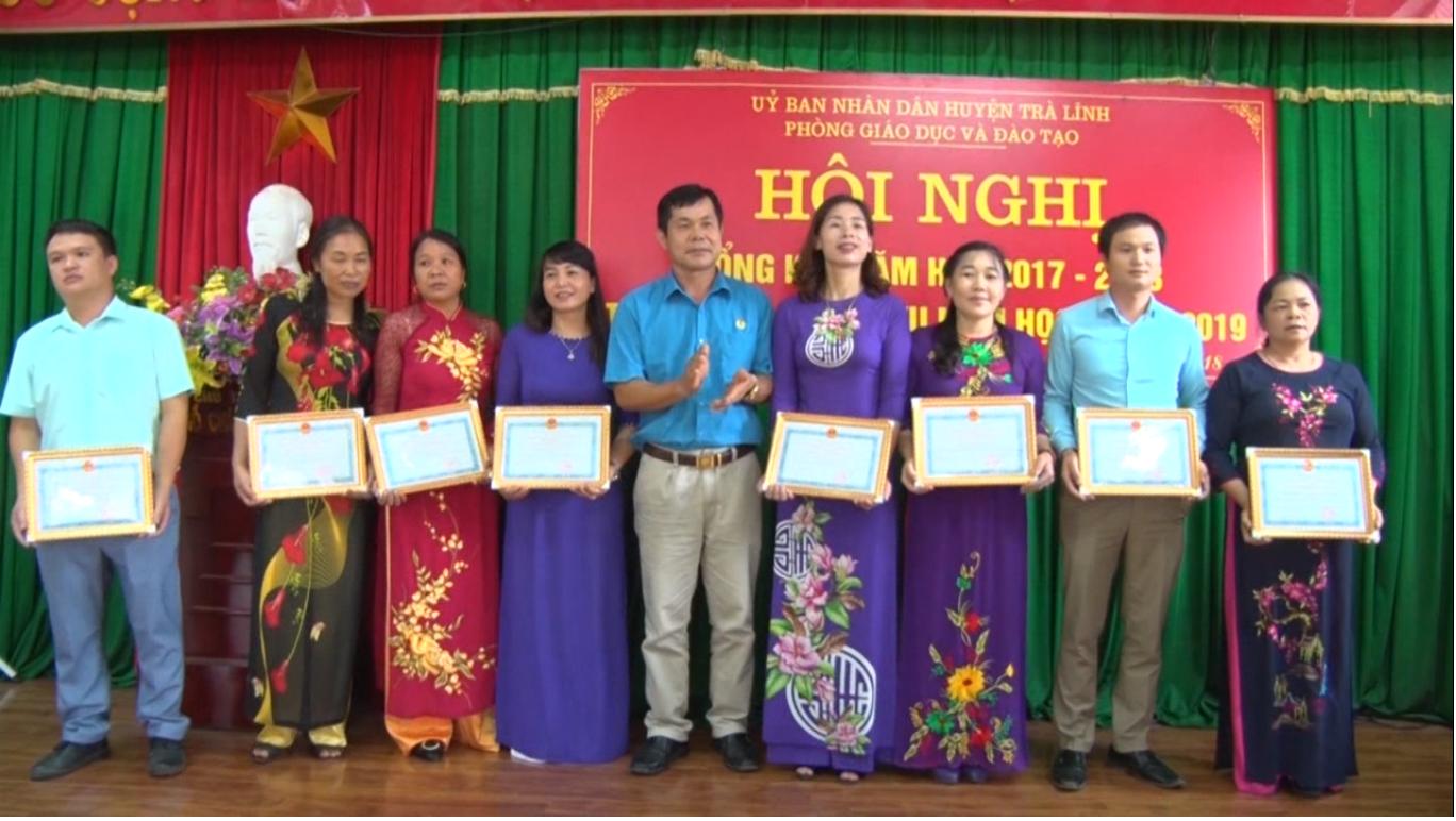 Quảng Uyên, Trà Lĩnh, Thạch An: Triển khai nhiệm vụ năm học 2018 - 2019