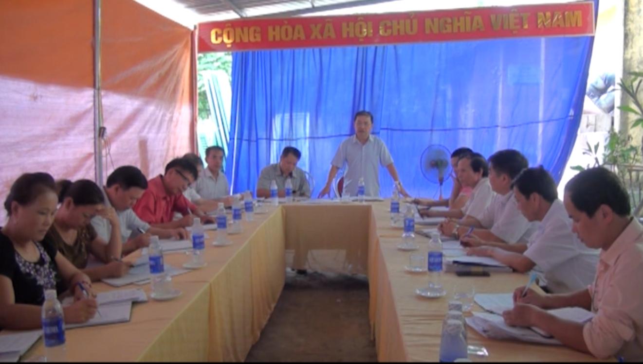 Kiểm tra tình hình xây dựng nông thôn mới tại xã Minh Thanh (Nguyên Bình)