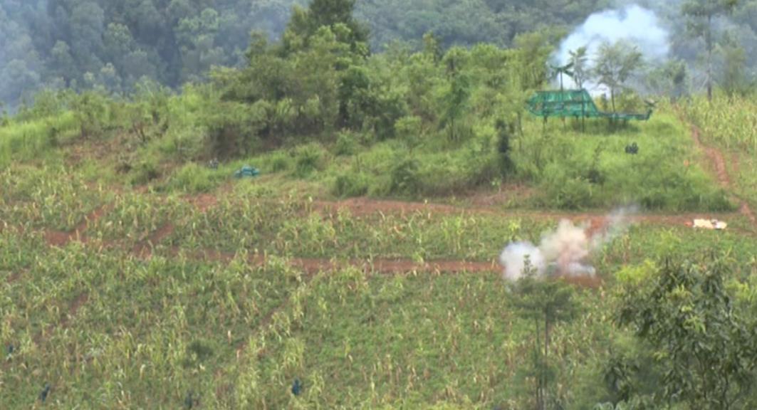 Bảo Lạc: Diễn tập chiến đấu phòng thủ thị trấn Bảo Lạc
