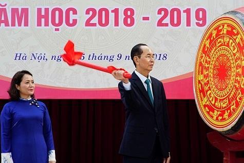 Chủ tịch nước dự khai giảng tại Trường THPT Chu Văn An