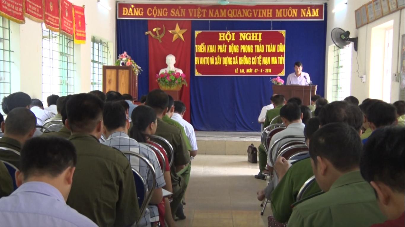 """Thạch An: Phát động phong trào """"Toàn dân bảo vệ an ninh Tổ quốc"""" năm 2018"""
