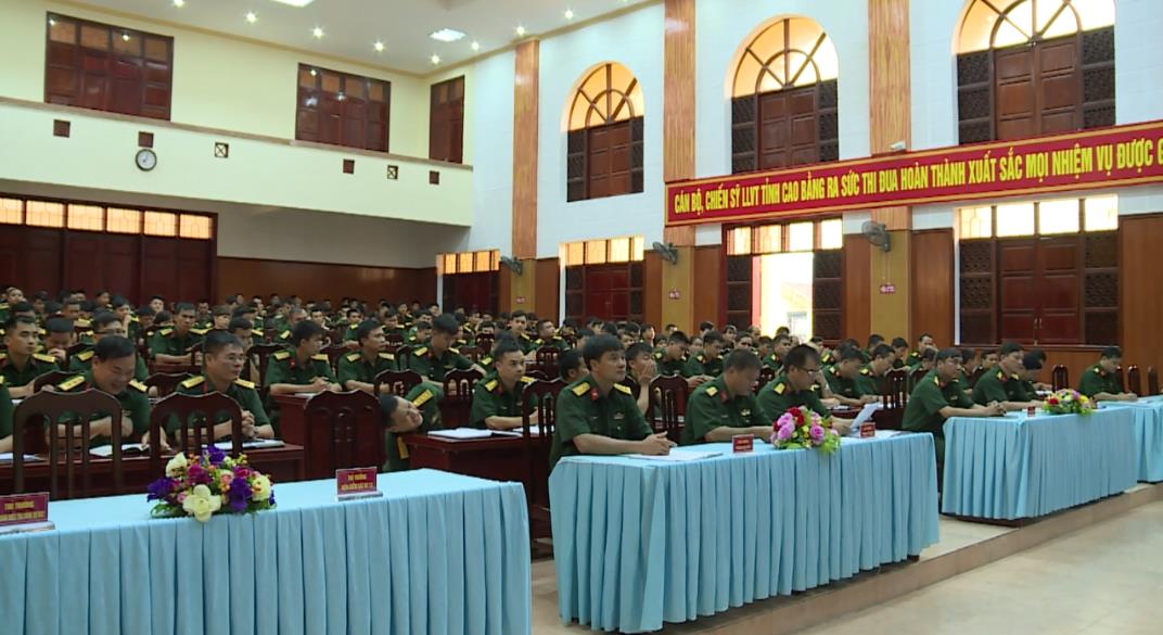 """Bộ CHQS tỉnh: Phát động thi đua cao điểm """"30 ngày đêm đoàn kết, lập công, quyết thắng"""""""