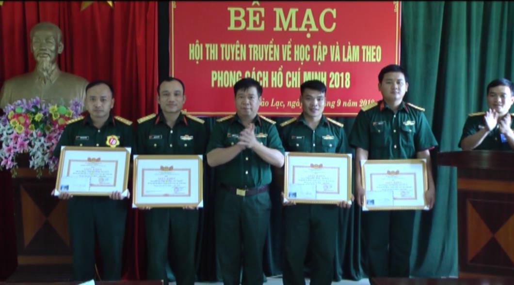 Ban CHQS huyện Bảo Lạc: Hội thi tuyên truyền về học tập và làm theo phong cách Hồ Chí Minh