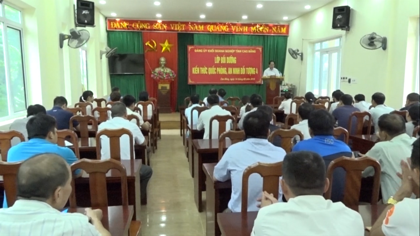 Đảng ủy Khối Doanh nghiệp tỉnh: Bồi dưỡng kiến thức quốc phòng, an ninh đối tượng 4