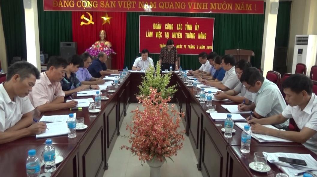 Đoàn công tác của Tỉnh ủy kiểm tra việc nâng cao chất lượng giáo dục  tại huyện Thông Nông