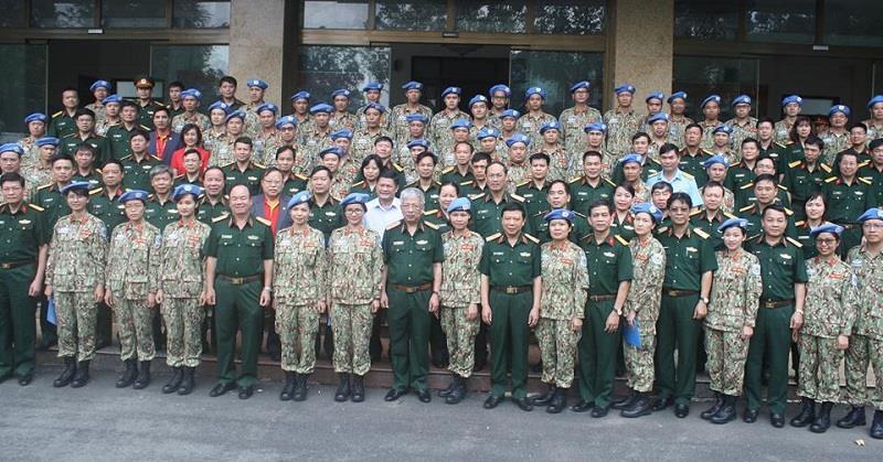 Cán bộ, chiến sĩ Bệnh viện dã chiến cấp 2 đã sẵn sàng lên đường thực hiện nhiệm vụ gìn giữ hòa bình Liên hợp quốc