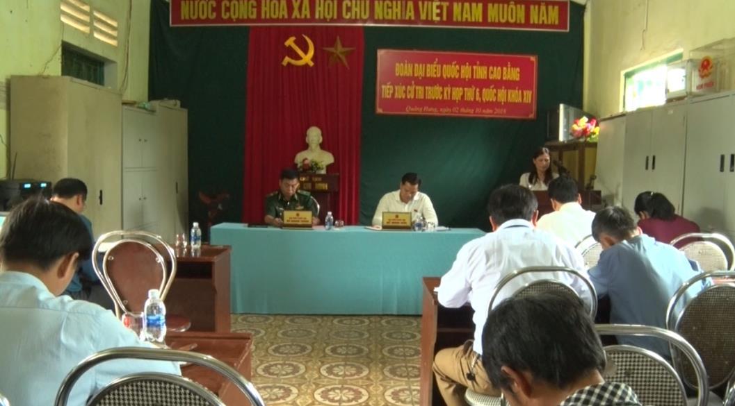 ĐBQH tỉnh tiếp xúc cử tri huyện Quảng Uyên