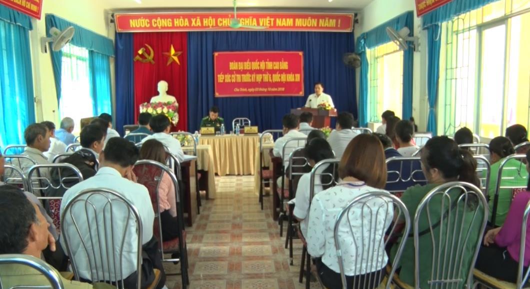 ĐBQH tỉnh tiếp xúc cử tri xã Chu Trinh (Thành phố)
