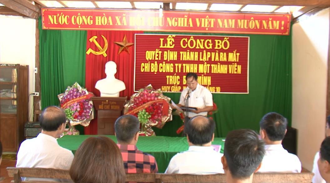 Thành lập Chi bộ Đảng tại Công ty TNHH MTV Trúc Bảo Minh