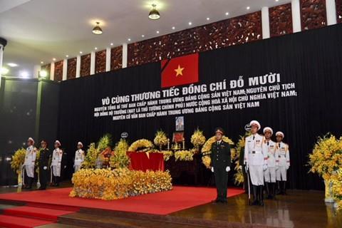 Lời cảm ơn của Ban Lễ tang Nhà nước và gia đình nguyên Tổng Bí thư Đỗ Mười