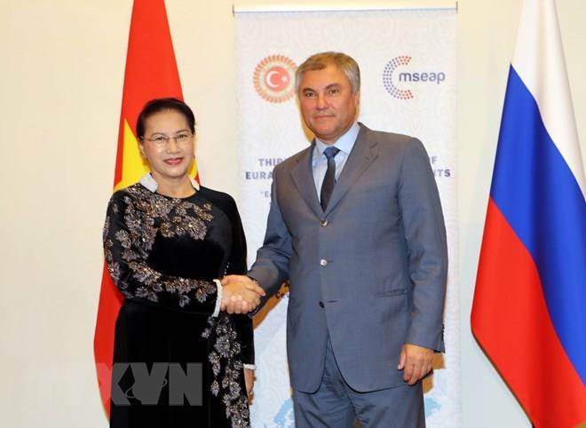 Chủ tịch Quốc hội hội kiến Chủ tịch Duma Quốc gia LB Nga