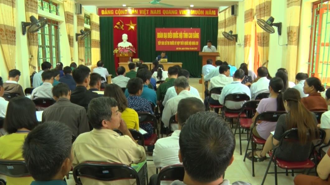 ĐBQH tỉnh tiếp xúc cử tri huyện Phục Hòa