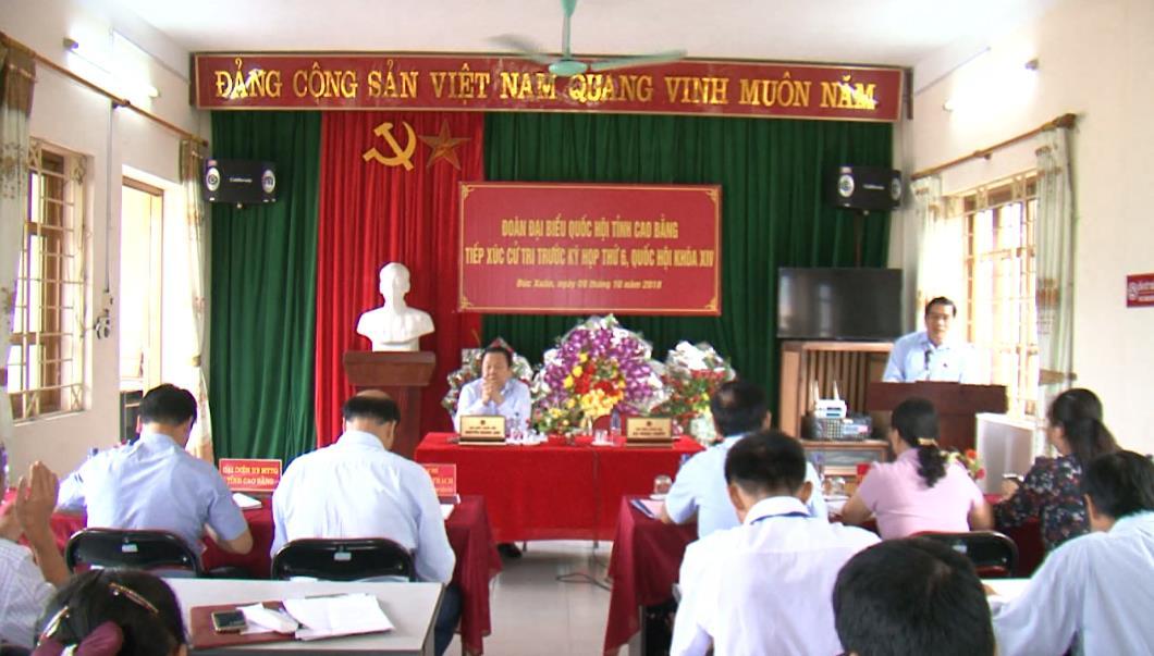 ĐBQH tỉnh tiếp xúc cử tri xã Đức Xuân, huyện Thạch An trước Kỳ họp thứ 6, Quốc hội khóa XIV