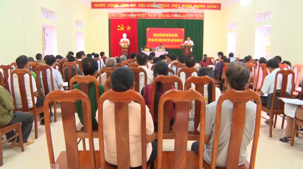 ĐBQH tỉnh tiếp xúc cử tri huyện Hà Quảng