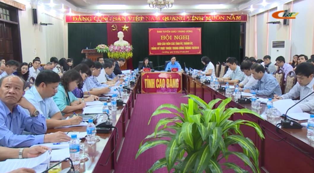 Ban Tuyên giáo Trung ương: Hội nghị trực tuyến báo cáo viên tháng 10