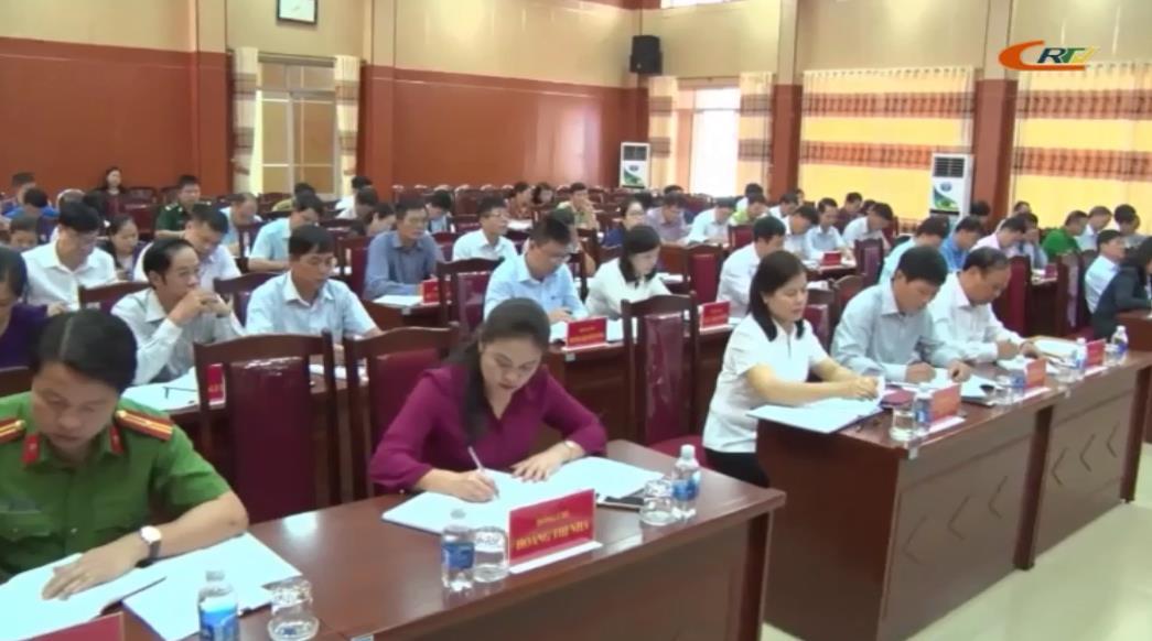Trà Lĩnh: Hội nghị lần thứ 18 (mở rộng) Ban Chấp hành Đảng bộ huyện khoá XXI