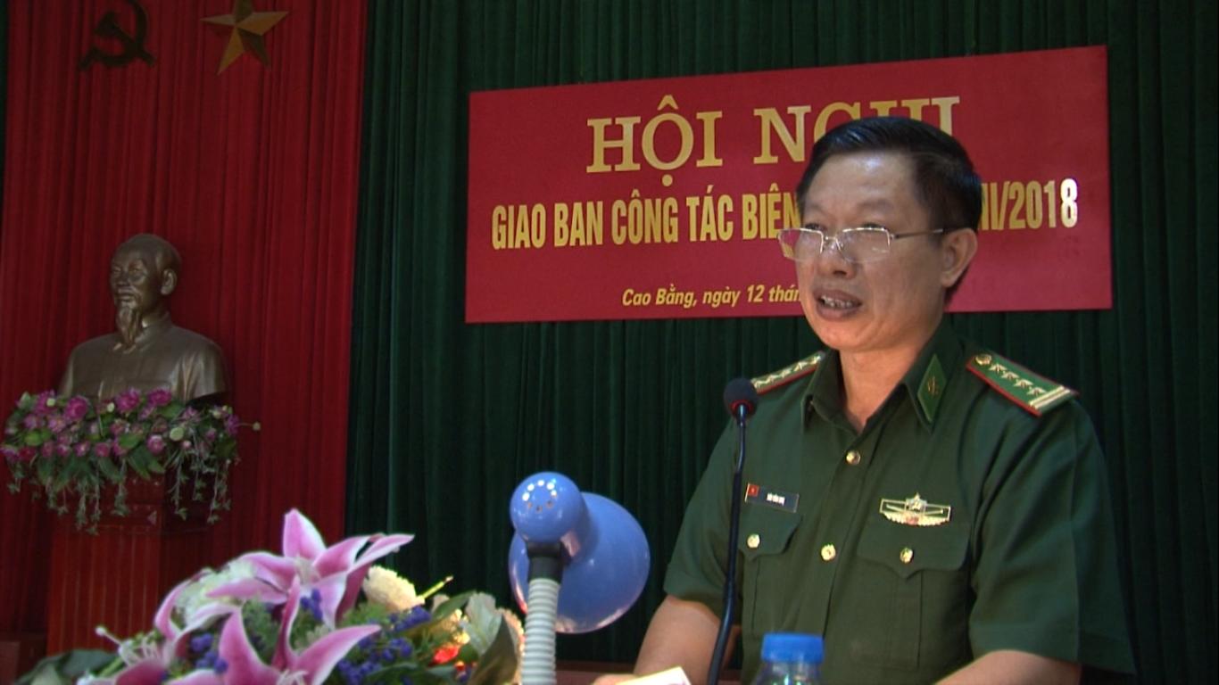 Bộ đội Biên phòng tỉnh: Giao ban công tác quý III/2018