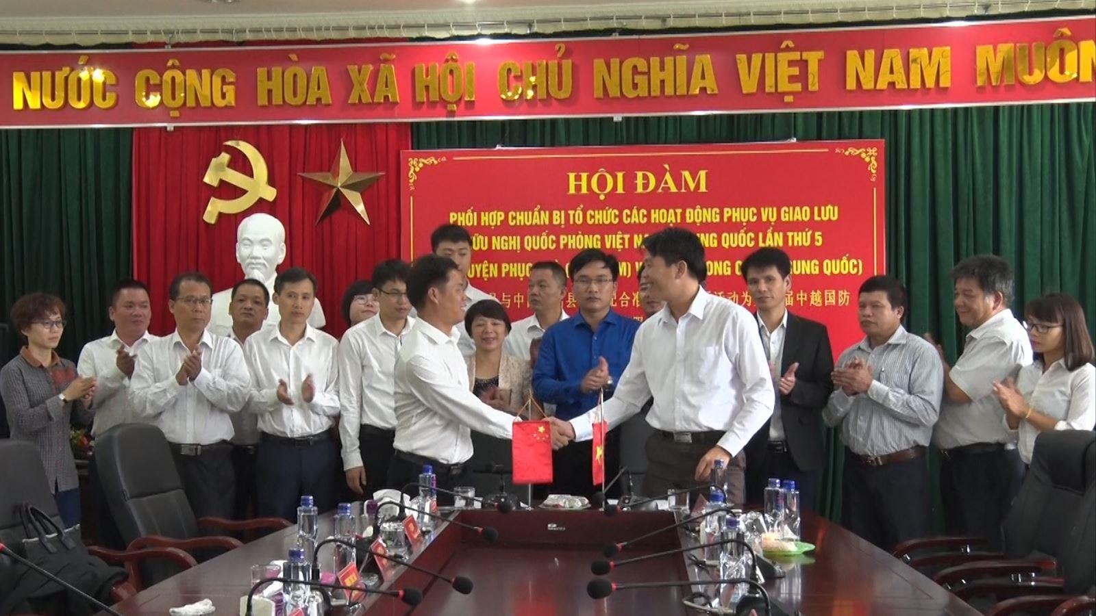 Hội đàm giữa huyện Phục Hòa (Việt Nam) với huyện Long Châu (Trung Quốc)