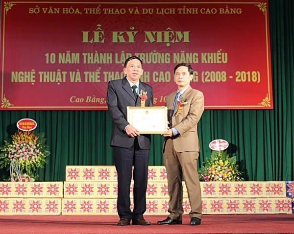 Kỷ niệm 10 năm thành lập Trường Năng khiếu Nghệ thuật và Thể thao tỉnh Cao Bằng