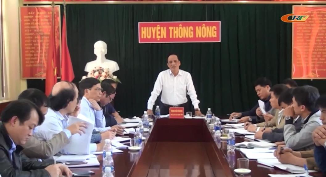 Phó Chủ tịch UBND tỉnh Trịnh Hữu Khang kiểm tra việc thực hiện chương trình kiên cố hóa các trường học mầm non, tiểu học tại huyện Thông Nông