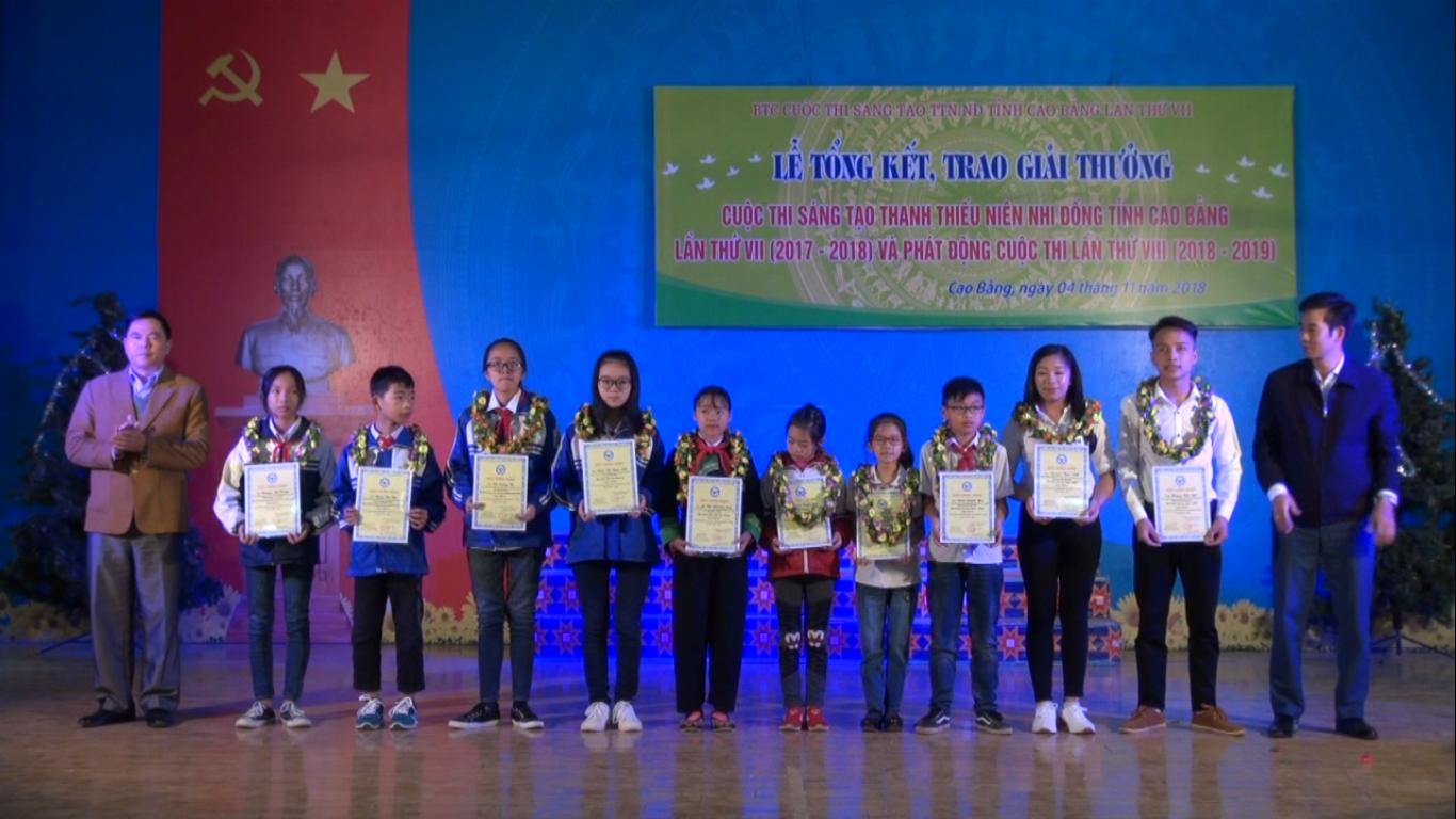 Tổng kết Cuộc thi sáng tạo thanh thiếu niên, nhi đồng tỉnh Cao Bằng