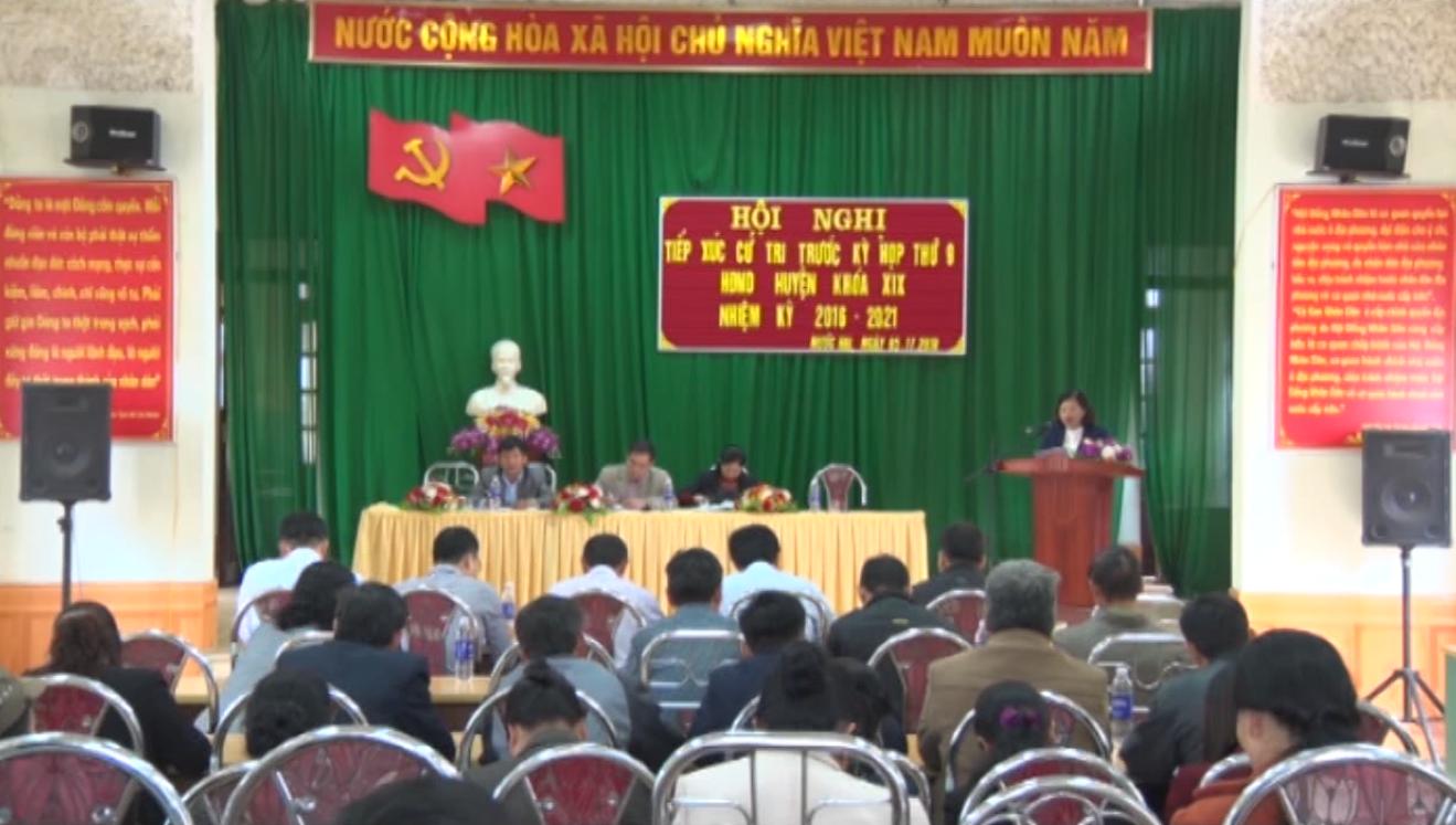 Hòa An: Đại biểu HĐND huyện tiếp xúc cử tri trước Kỳ họp thứ 9