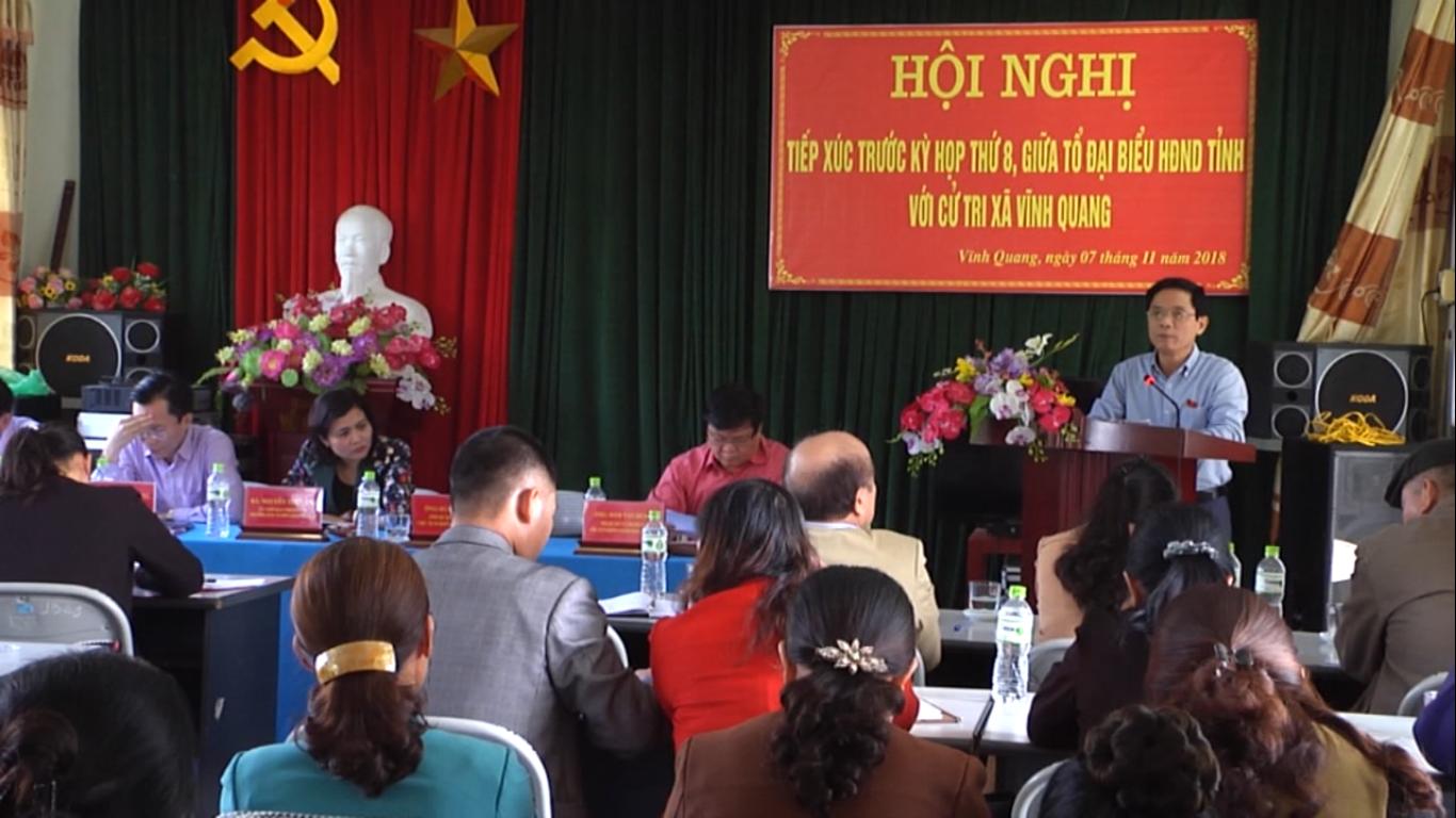 Đại biểu HĐND tỉnh tiếp xúc cử tri trước Kỳ họp thứ 8