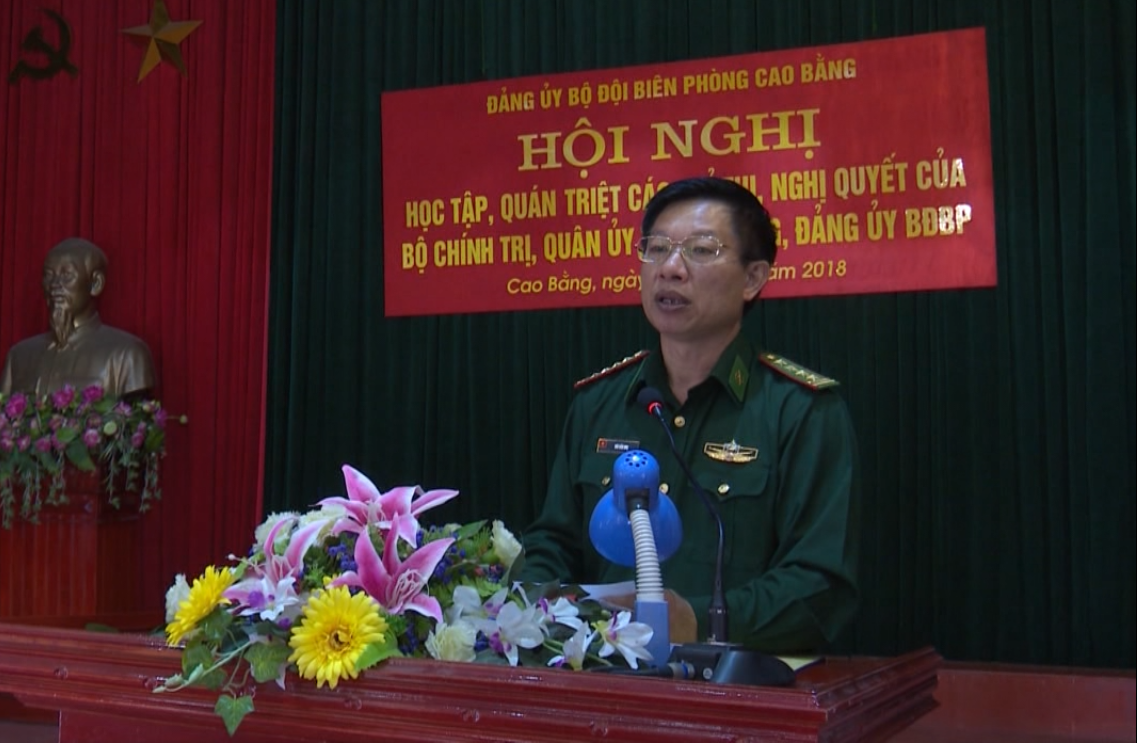 Đảng ủy Bộ đội Biên phòng Cao Bằng: Triển khai học tập, quán triệt nghị quyết của Trung ương