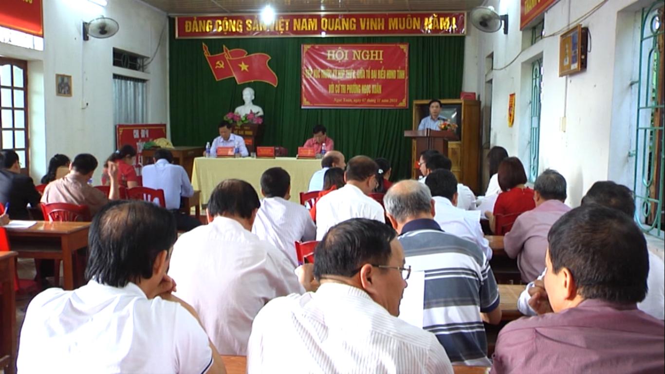 HĐND tỉnh tiếp xúc cử tri phường Ngọc Xuân (Thành phố) trước Kỳ họp thứ 8
