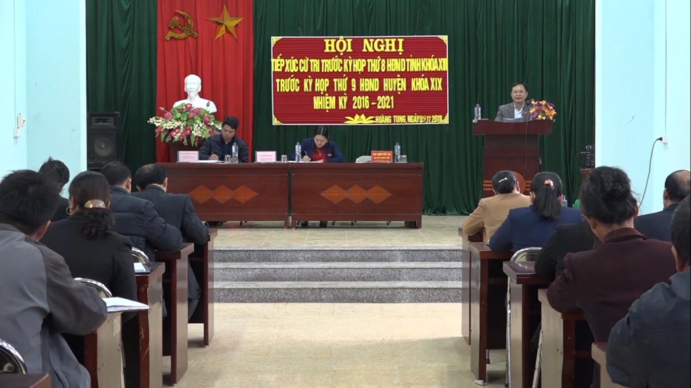 Đại biểu HĐND tỉnh, huyện Hòa An tiếp xúc cử tri các xã Hoàng Tung, Trưng Vương, Trương Lương (Hòa An)