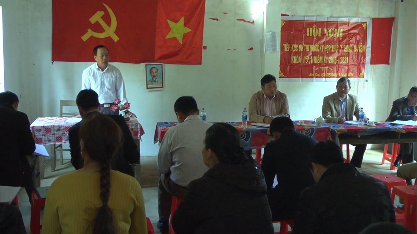 Đại biểu HĐND huyệnBảo Lạc: Tiếp xúc cử tri trước Kỳ họp thứ 7 HĐND huyện khóa XIX