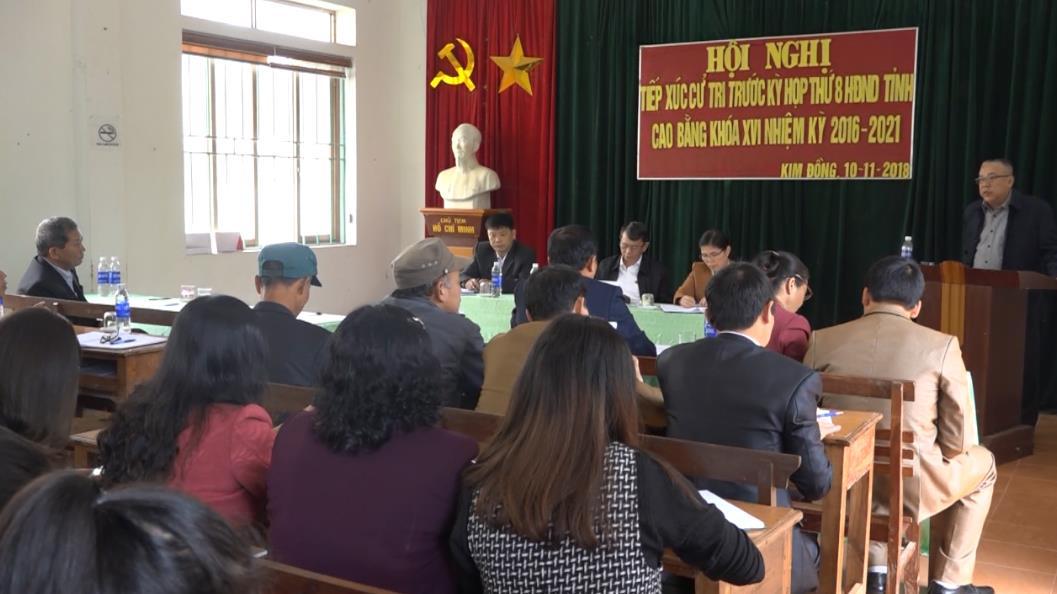 Đại biểu HĐND tỉnh tiếp xúc cử tri xã Kim Đồng, huyện Thạch An