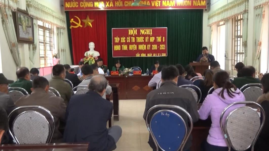 Đại biểu HĐND tỉnh tiếp xúc cử tri xã Cần Nông và xã Vị Quang (Thông Nông)