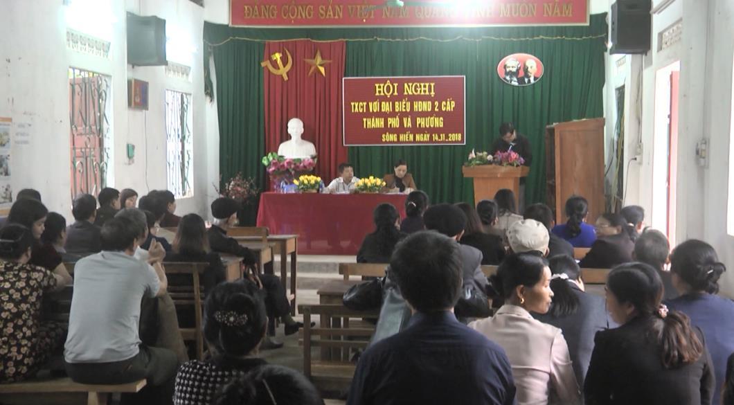Đại biểu HĐND thành phố Cao Bằng tiếp xúc cử tri phường Sông Hiến