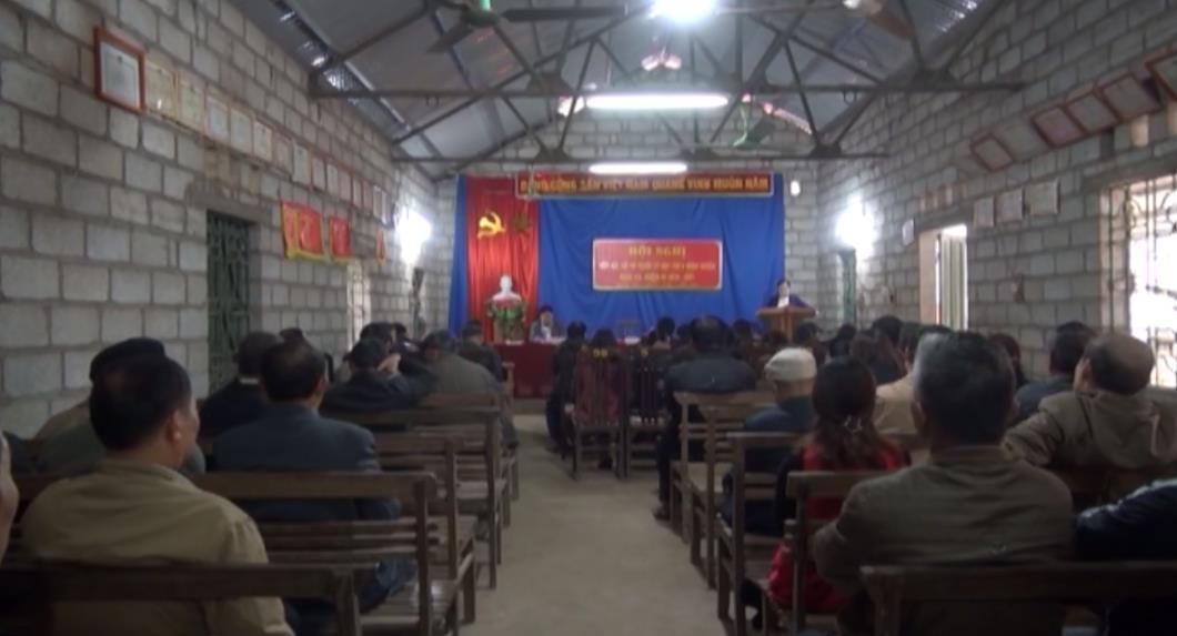 Đại biểu HĐND huyện Quảng Uyên tiếp xúc cử tri Thi trấn