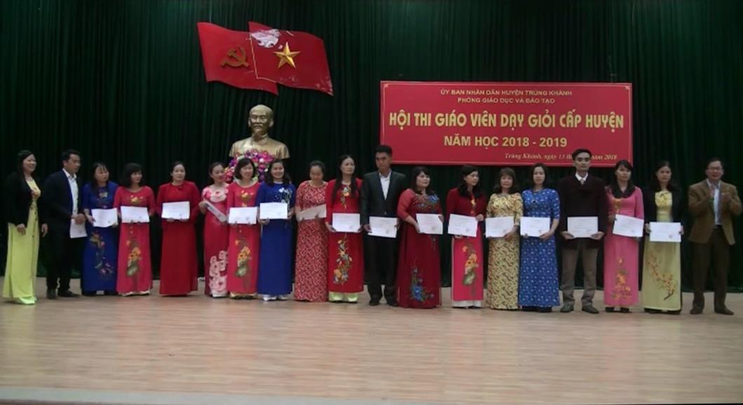 Trùng Khánh: 185 giáo viên đạt danh hiệu Giáo viên dạy giỏi cấp huyện năm học 2018 - 2019