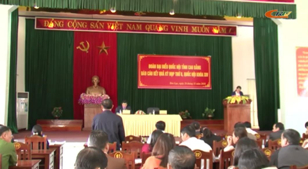 Đoàn ĐBQH tỉnh tiếp xúc cử tri huyện Bảo Lạc