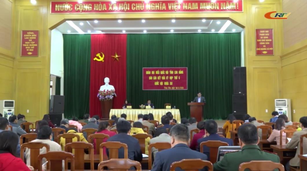 Đoàn ĐBQH tỉnh tiếp xúc cử tri huyện Phục Hòa