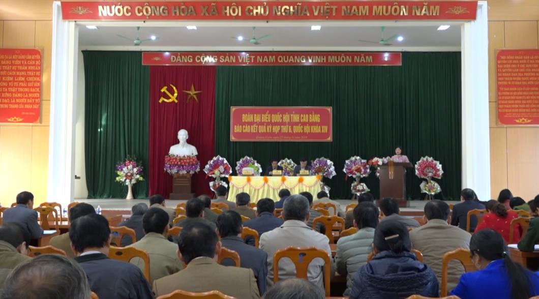 Đoàn ĐBQH tỉnh tiếp xúc cử tri huyện Quảng Uyên