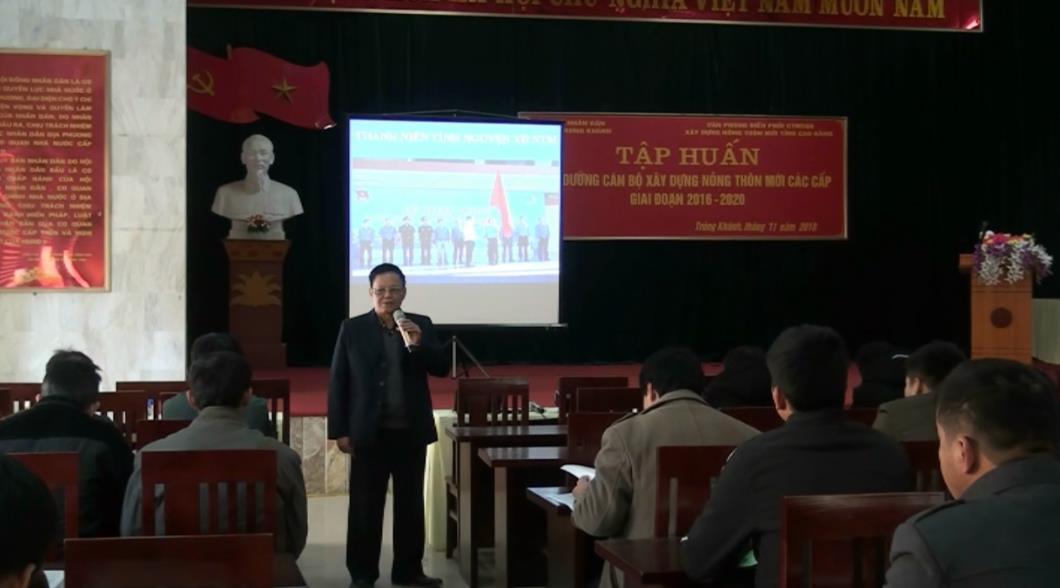 Trùng Khánh: Tập huấn bồi dưỡng cán bộ xây dựng nông thôn mới