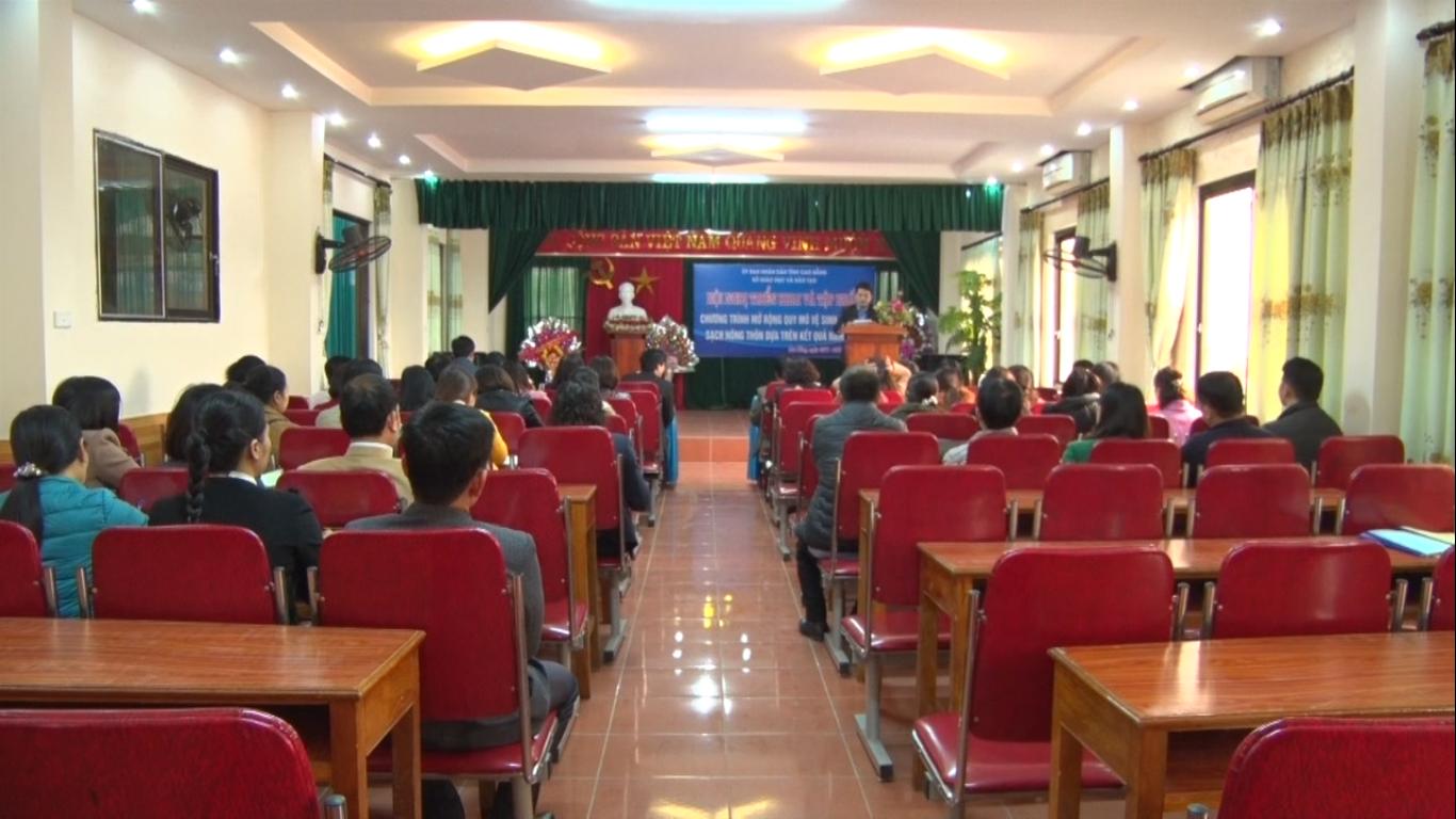 Sở Giáo dục & Đào tạo Cao Bằng: Tập huấn Chương trình mở rộng quy mô vệ sinh và nước sạch nông thôn