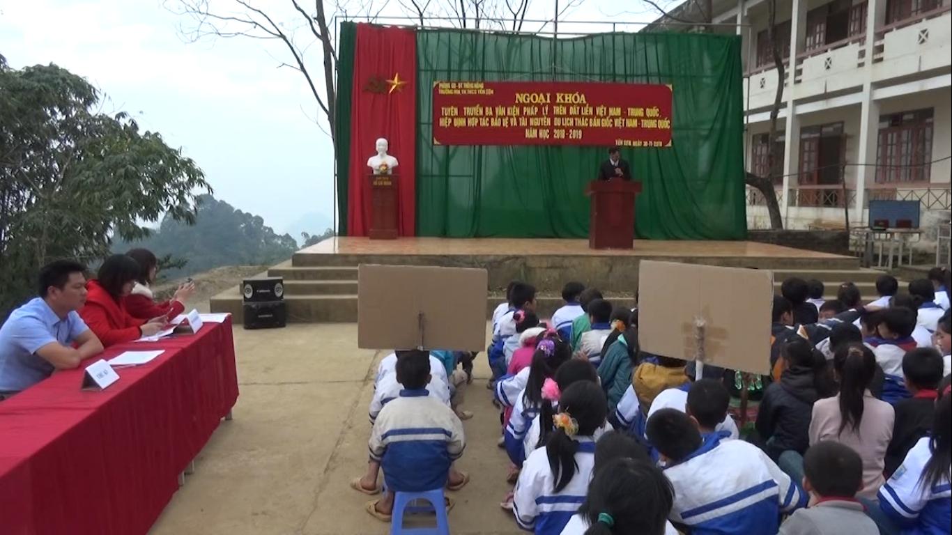 Thông Nông: Đồn Biên phòng Cần Yên tuyên truyền 3 văn kiện pháp lý biên giới trên đất liền Việt Nam – Trung Quốc