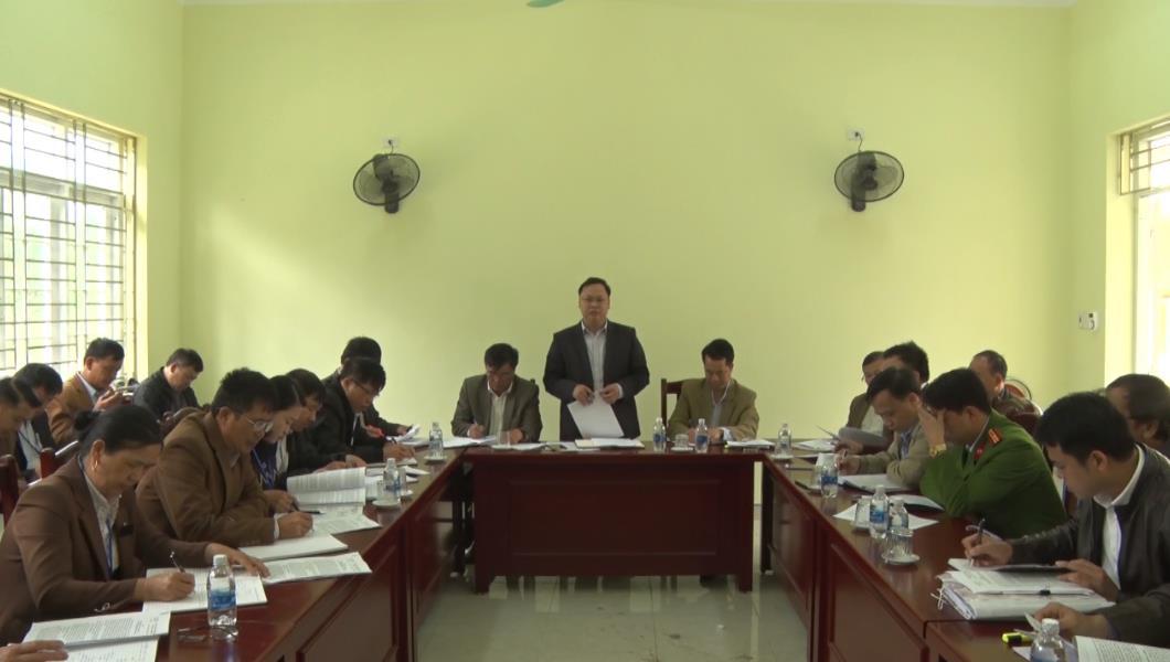 Trà Lĩnh: Đánh giá, thẩm tra các tiêu chí xây dựng nông thôn mới tại xã Quang Hán