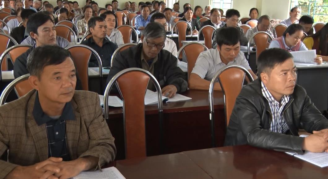 Trà Lĩnh: Tập huấn nâng cao kiến thức, kỹ năng cho cán bộ làm công tác xây dựng nông thôn mới