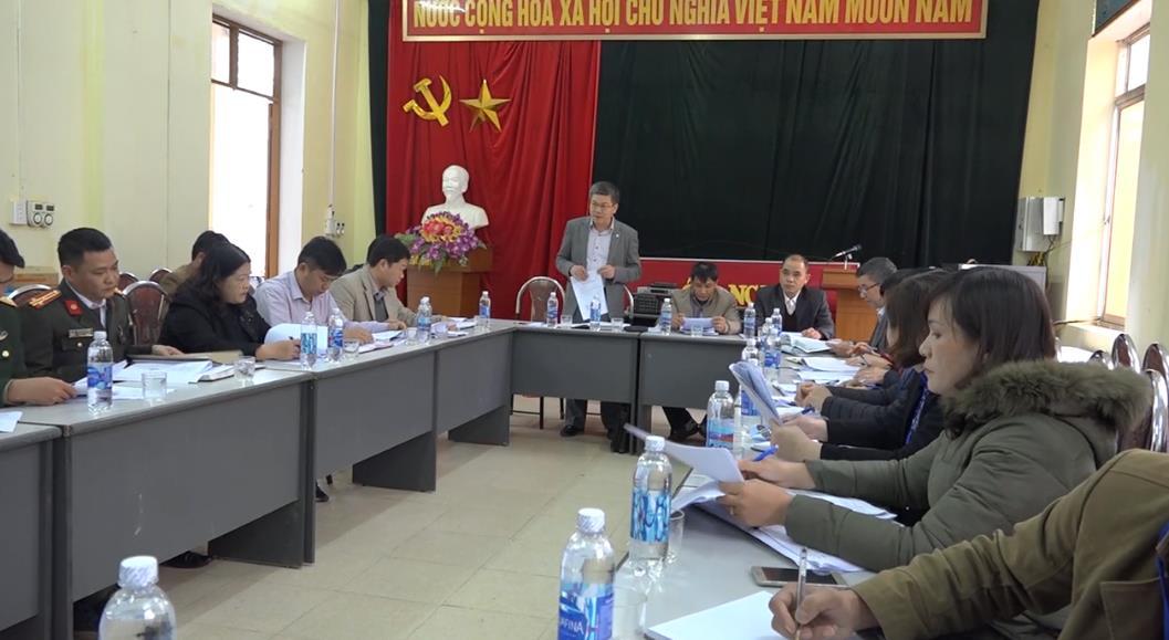 Hòa An: Thẩm định kết quả thực hiện 19 tiêu chí xây dựng nông thôn mới tại xã Bế Triều