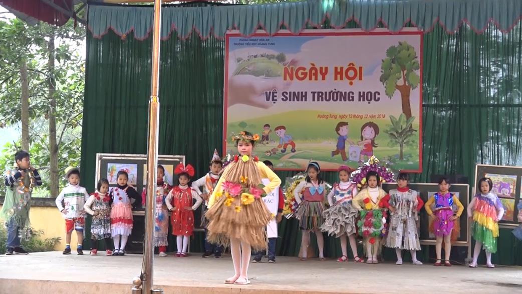Hòa An: Ngày hội vệ sinh trường học năm 2018
